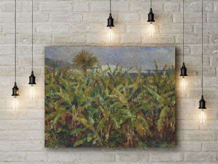 Pierre Auguste Renoir: Field of Banana Trees. Fine Art Canvas.